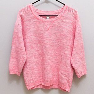 J Crew Factory Seed Stitch Knit Pullover Sweater M